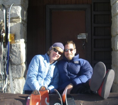 Relaxing at Ostrander Hut